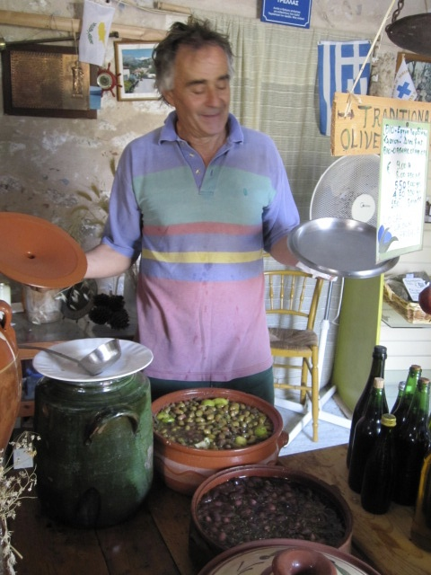 Yiannis Dimitreas in his shop in Kardamyli
