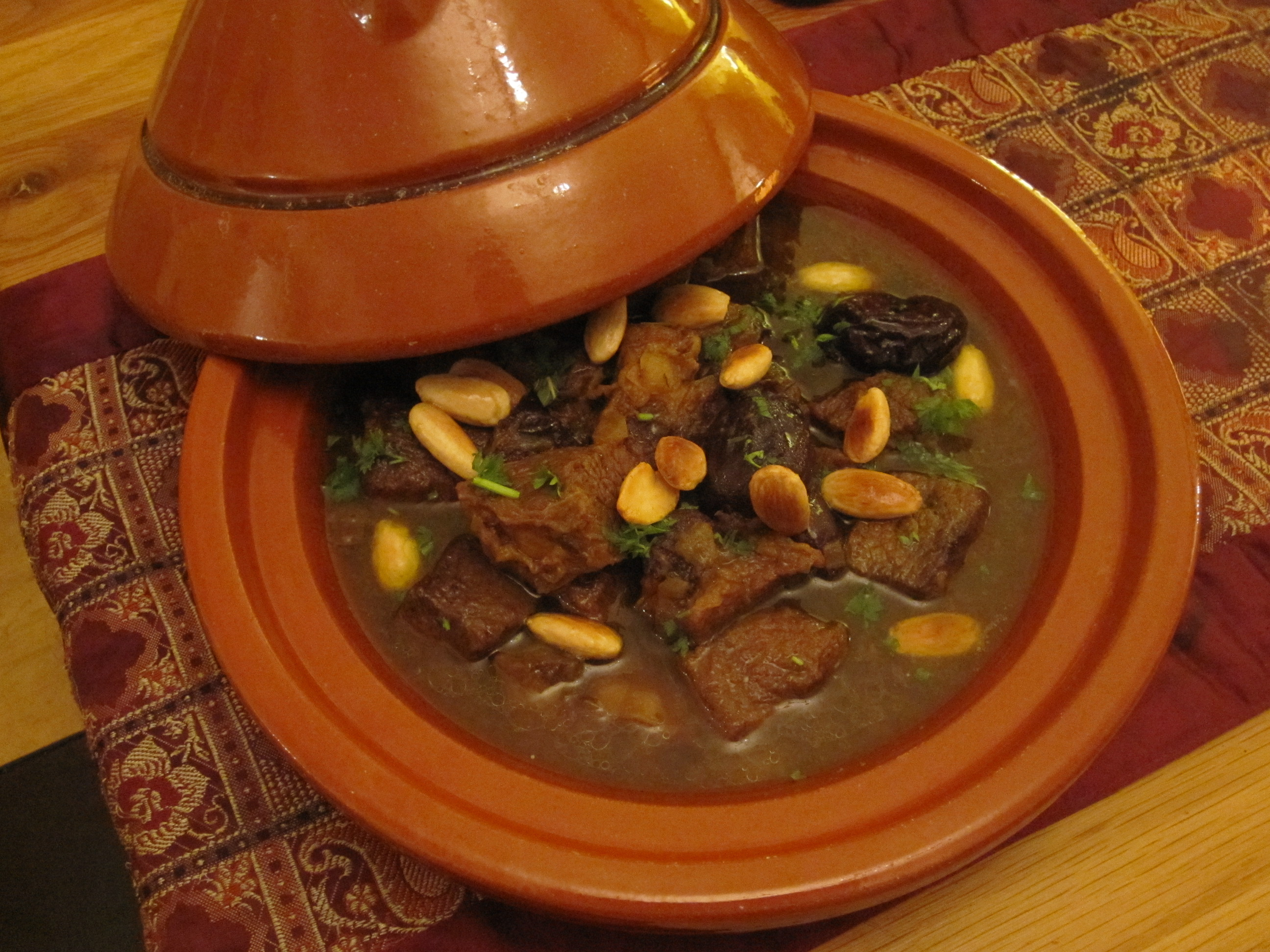 Beef Tagine with Prunes and Almonds