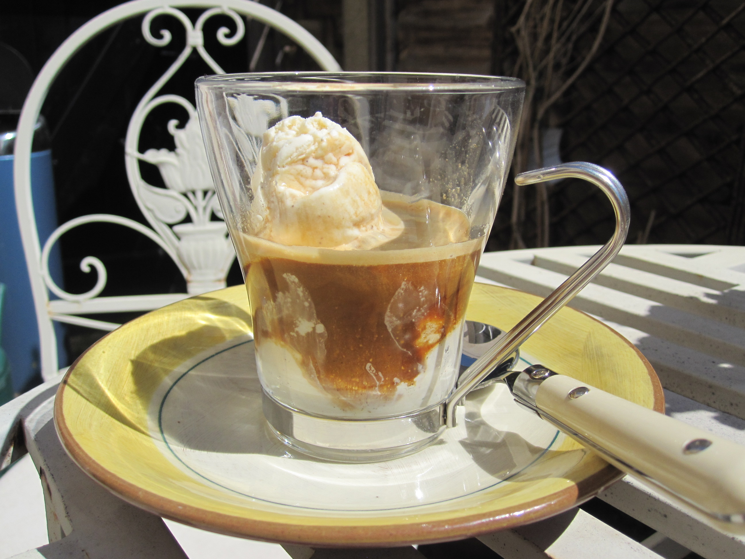 Affogato heavenly coffee ice cream travel gourmet gently pour the hot coffee over the cold ice cream as you eat the ice cream the coffee will melt it and the two gorgeous flavours combine to make a creamy ccuart Images