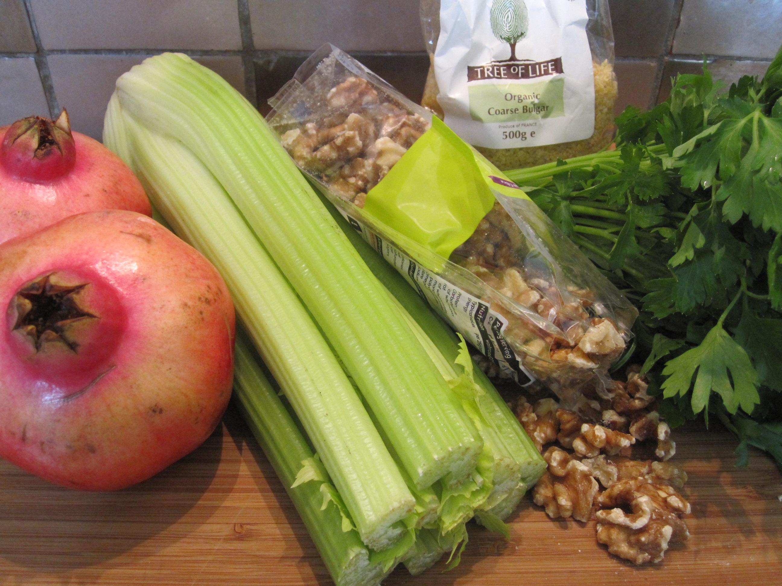 Bulgur, Celery & Pomegranate Salad ...