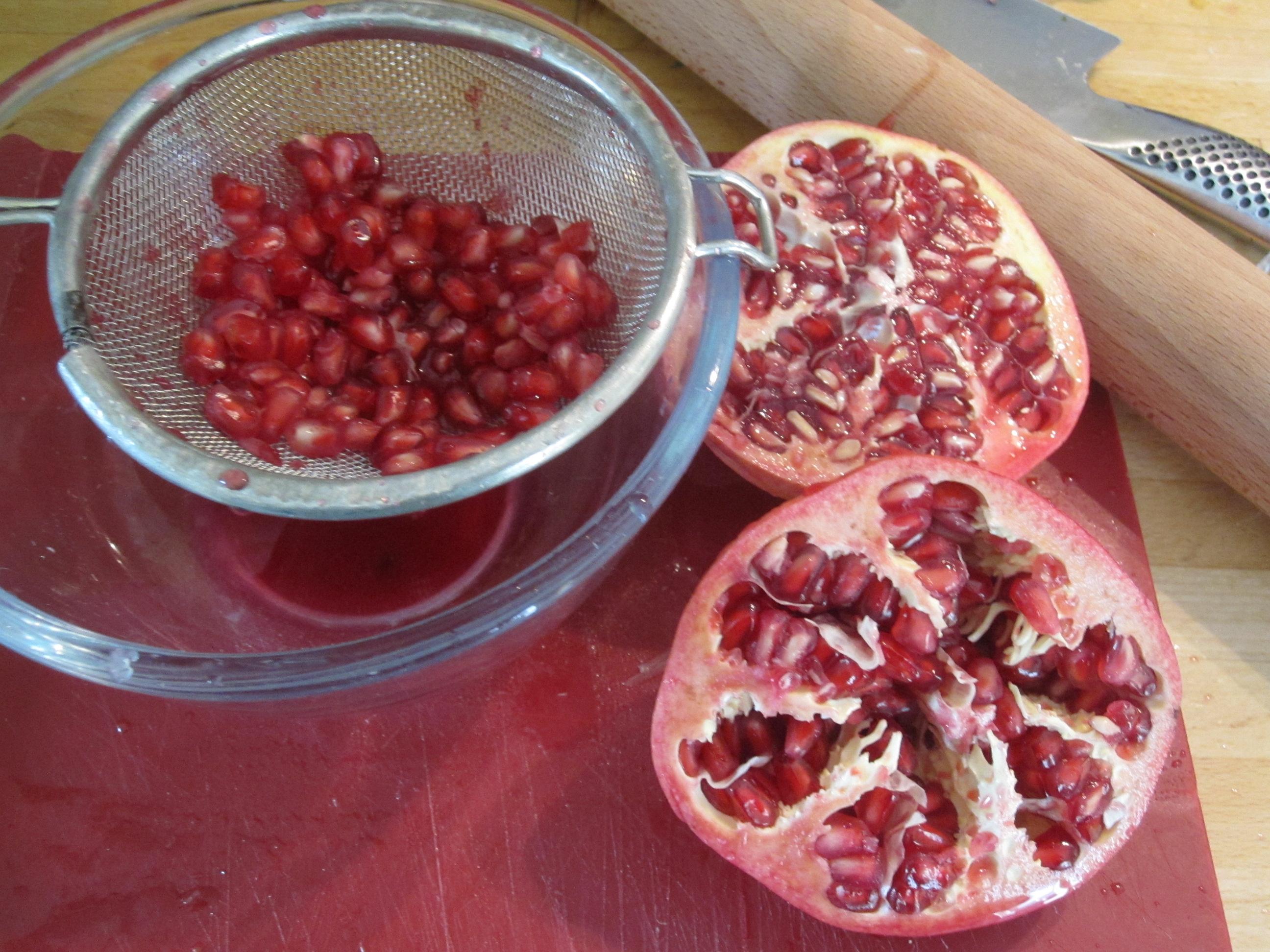 Bulgur, Celery And Pomegranate Salad Recipe — Dishmaps