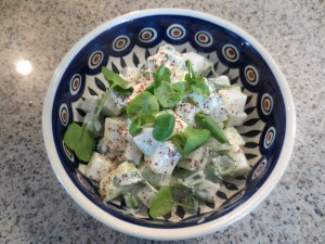 Kohlrabi, Watercress & Yogurt Salad