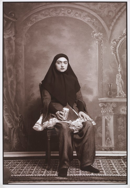 From the series Qajtar, 1998 by Shadi Ghadirian © the artist/Victoria & Albert Museum, London, Art Fund Collection of Middle Eastern Photography at the V&A and British Museum