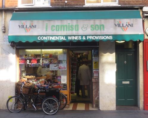 Camisa Italian deli in Old Compton Street