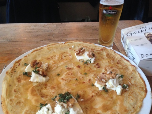 Pancake for lunch in Amsterdam