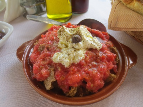 Dakos in Ta Kochilia taverna, Mohlos, Crete