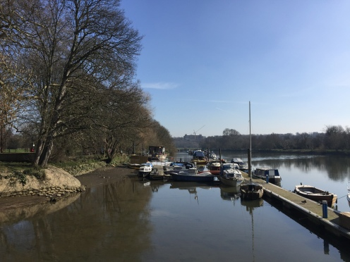 View along the Thames to Richmond