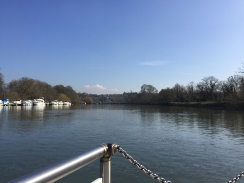 Crossing the Thames, looking towards Richmond