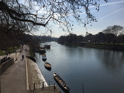 Walking across Richmond bridge back to Twickenham